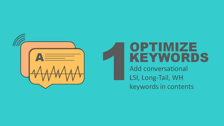 optimize keywords voice search