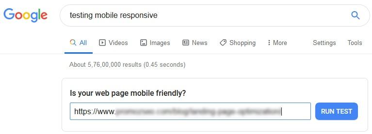 test mobile responsiveness