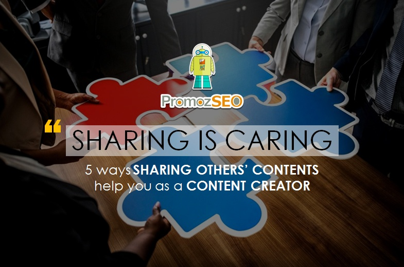 sharing others contents help content creators