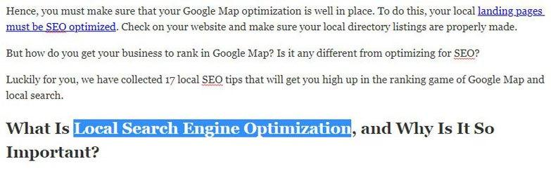 paragraph header optimization