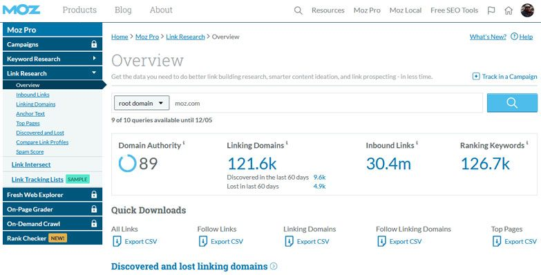seo metrics domain authority