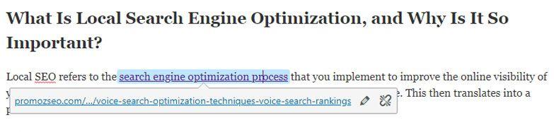 wp internal link optimization