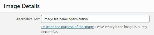image alt optimization