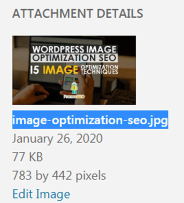 image file name optimization