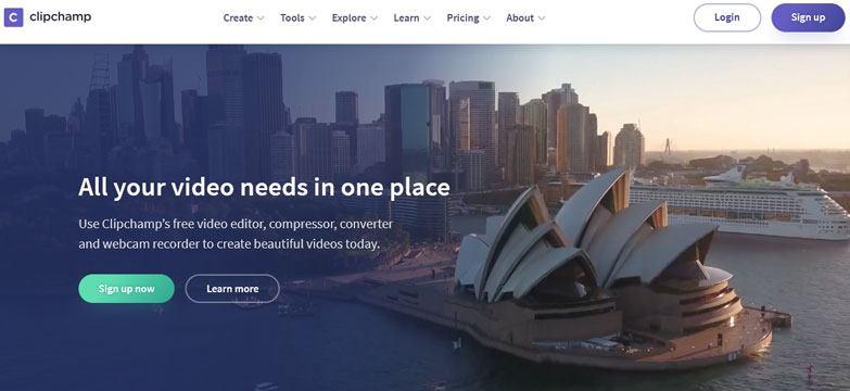 clipchamp online video maker