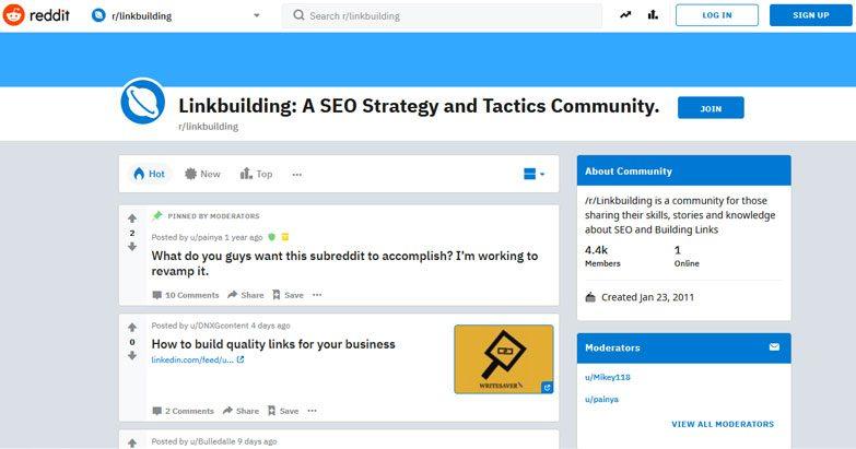 social bookmark link building