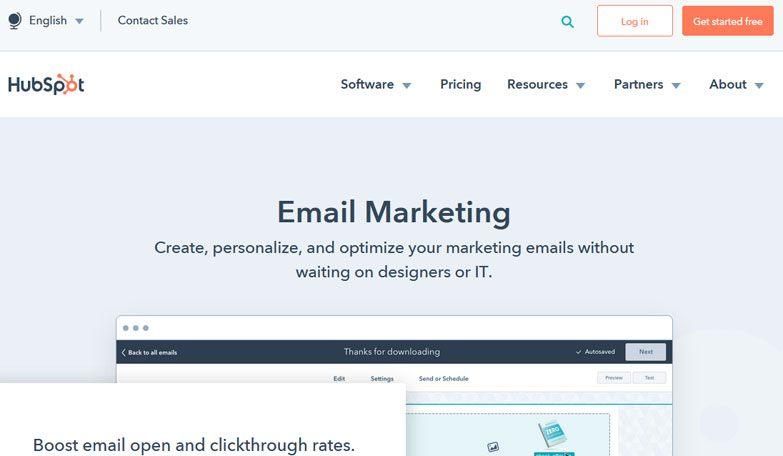 HubSpot email marketing