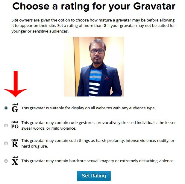 gravatar image rating