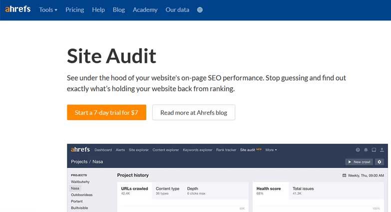 ahrefs seo audit tool