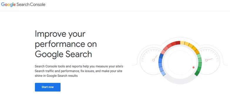 outil de la console de recherche Google