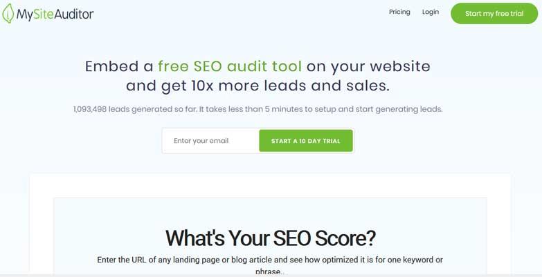 mon site auditeur outil d'audit seo