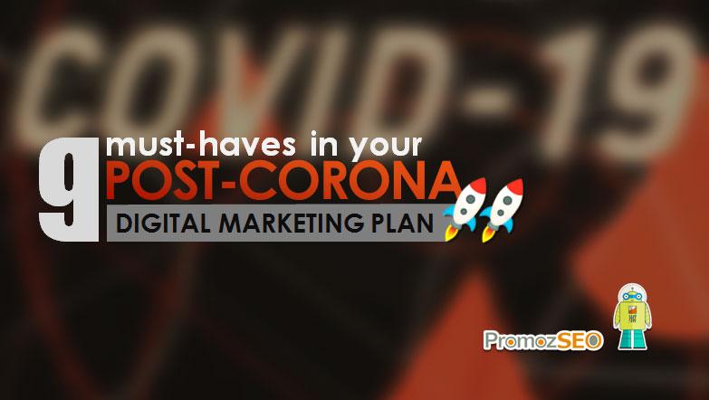 post corona digital marketing plan