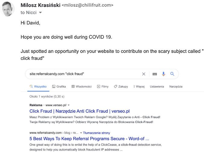 link outreach email template example